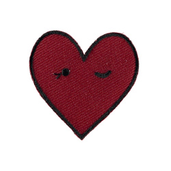 Patch 42x41mm heart red 1 pc