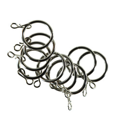 Curtain ring metal 30mm chrom 10pcs