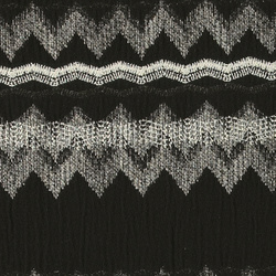 Woven brocade black/nature ethnic