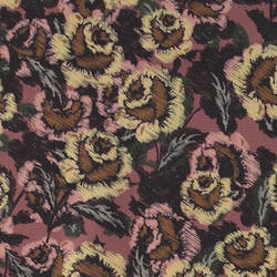 Upholstery with vintage flower print