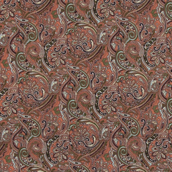 Cotton coral/green pattern