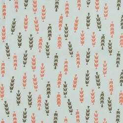 Cotton mint green w pattern