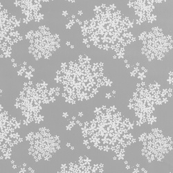 Non-woven oilcloth lt grey w elderflower