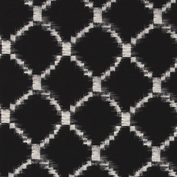 Woven cotton black with ikat print