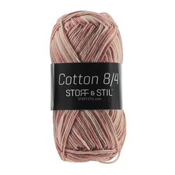 Knitting yarn Cotton 8/4 rose mix
