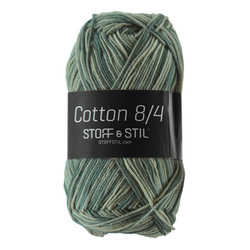 Knitting yarn Cotton 8/4 green mix