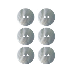 Button 2-holes pearl 20mm lt blue 6pcs