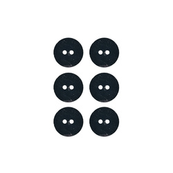 Button 2-holes pearl 15mm navy 6pcs