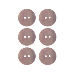 Button 2-holes pearl 20mm powder 6pcs