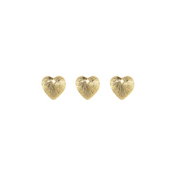 Pendant heart 12mm gold 3pcs