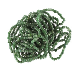 Beads glass 2-3mm green mix app. 1000pcs
