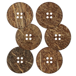 Button coconut 30mm 4-holes 6 pcs