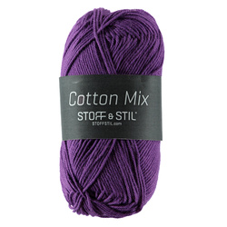 Knitting yarn cotton mix bright purple