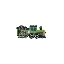 Patch 60x27mm train green 1 pc