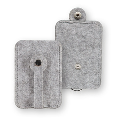 Kit felt key pouch 8x15cm light grey mel