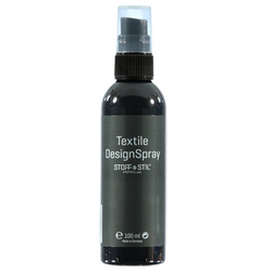 Tekstilmaling Design Spray grå 100ml