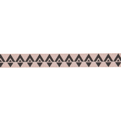 Ribbon printed 15mm dusty rose 3m