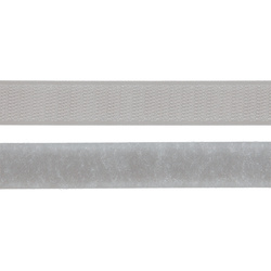 Hook and Loop tape 20mm light grey 50cm