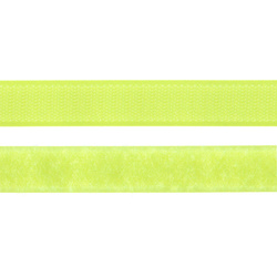 Hook and Loop tape 20mm neon yellow 50cm