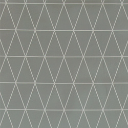 Non-woven oilcloth light grey w graphic