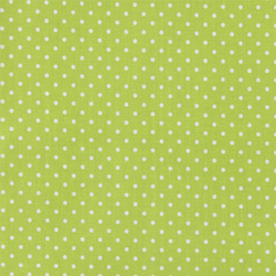 Woven oilcloth lime w white dots