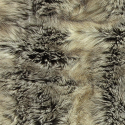 Fake polar fox fur light grey/dark brown