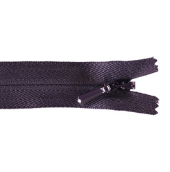 YKK zip 5mm invisible coil aubergine