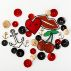 Patch 47x65mm cherries glitter 1 pc
