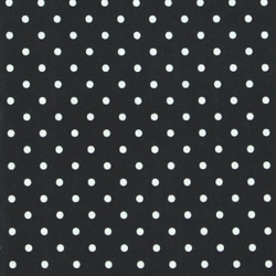 Woven oilcloth dark grey w white dots