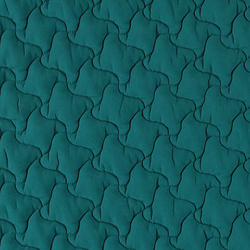Quilt polyester petrol blue