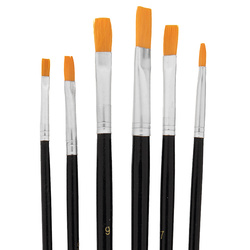 Brush set size 1,3,5,7,9,11 mm flat 6pcs