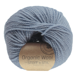 Knitting yarn organic wool light blue