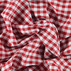 Cotton yarn dyed red/white check
