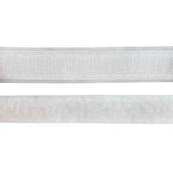 Self-adhesive Hook/Loop tape20mm white2m