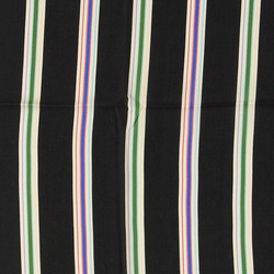 Woven viscose blac w multicolored stripe