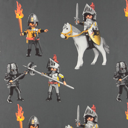 Cotton grey with Playmobil knight