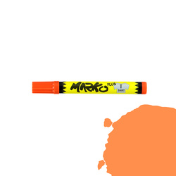 Textile pen permanent 5mm orange