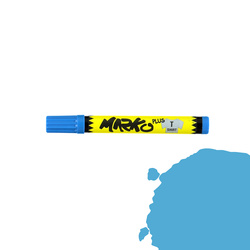 Textile pen permanent 5mm light blue