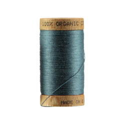 Sewing thread organic cotton blue 100m