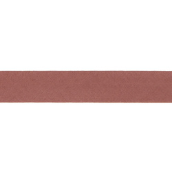 Bias tape cotton 18mm dusty red 5m