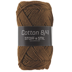 Garn Cotton 8/4 mörk oliv