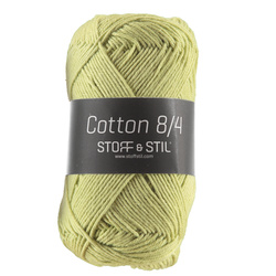 Garn Cotton 8/4 vårgrøn