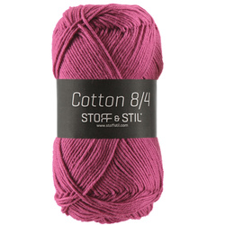 Garn cotton 8/4 mörk cerise