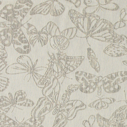 Woven oilcloth jacquard grey w butterfly