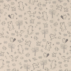Organic cotton sand with animals