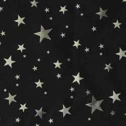 Jacquard black with gold stars