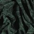Jacquard black with green leaf pattern
