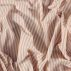 Woven rose/sand striped yarn dyed