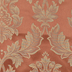 Jacquard redbrown with wallpaper pattern