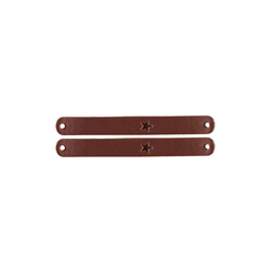 Patch imitated leather 70x8mm brown 2pcs
